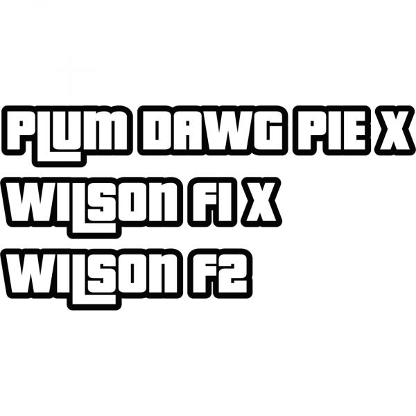 Plum Dawg Pie X Wilson F1 X Wilson F2