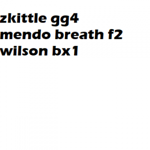 zkittles gg4 mendo breath f2 x wilson bx1